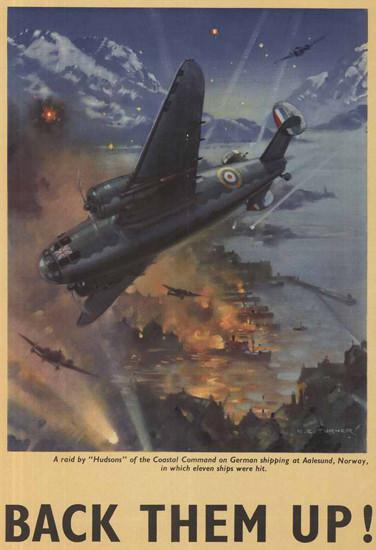 British Armed Forces Back Them Up 14 | Vintage War Propaganda Posters 1891-1970
