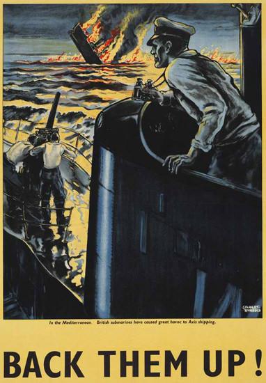British Armed Forces Back Them Up 16 | Vintage War Propaganda Posters 1891-1970
