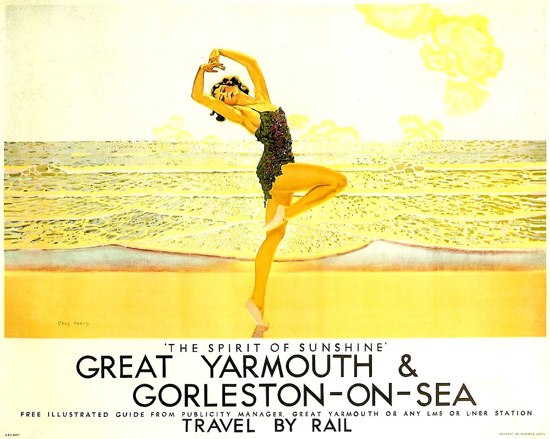 British Railways Great Yarmouth Gorleston 1930s | Sex Appeal Vintage Ads and Covers 1891-1970
