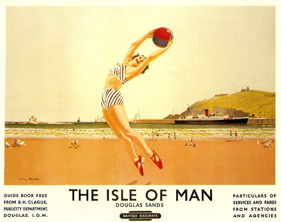 British Railways Isle Of Man Douglas Sands 1949 | Sex Appeal Vintage Ads and Covers 1891-1970