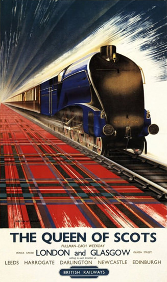 British Railways Queen Of Scots Pullman 1940s | Vintage Travel Posters 1891-1970
