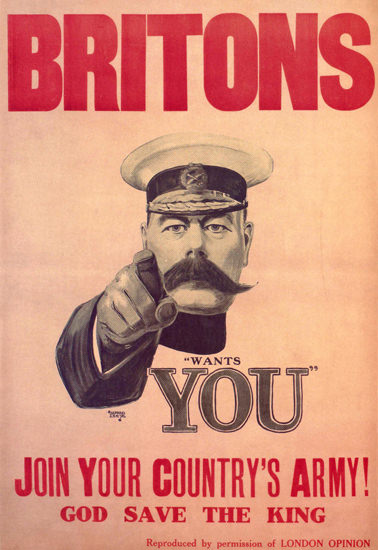 Britons Wants You Join Your Countrys Army UK | Vintage War Propaganda Posters 1891-1970