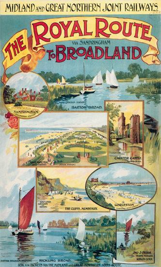 Broadland Royal Route Midland Great Northern | Vintage Travel Posters 1891-1970