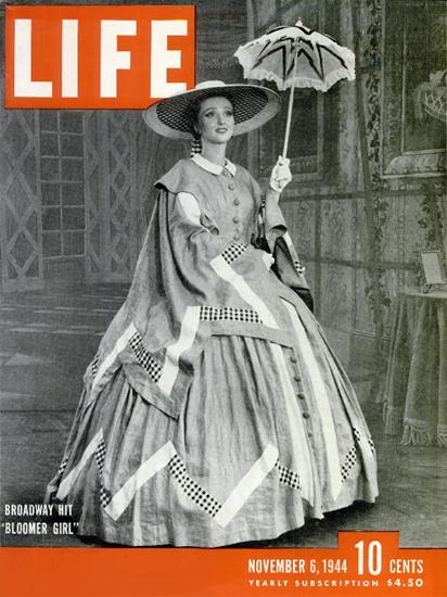 Broadway Hit Bloomer Girl 6 Nov 1944 Copyright Life Magazine   Life Magazine BW Photo Covers 1936-1970