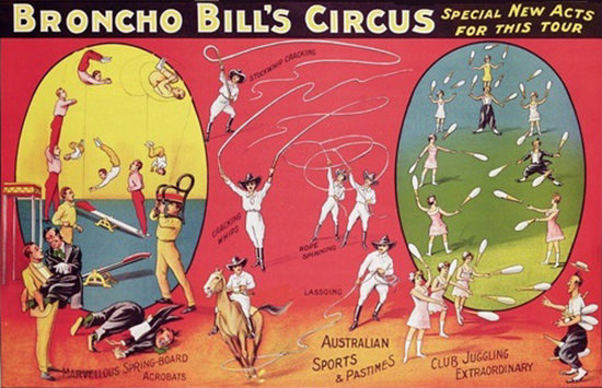 Broncho Bills Circus | Vintage Ad and Cover Art 1891-1970