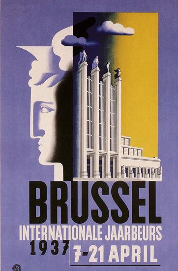 Brussel Internationale Jaarbeurs 1937 Belgium   Vintage Ad and Cover Art 1891-1970