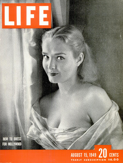 Brynn Noring in Hollywood 15 Aug 1949 Copyright Life Magazine | Life Magazine BW Photo Covers 1936-1970
