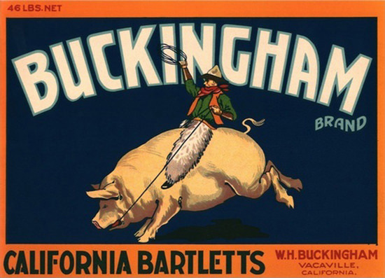 Buckingham California Bartletts Vacaville | Vintage Ad and Cover Art 1891-1970