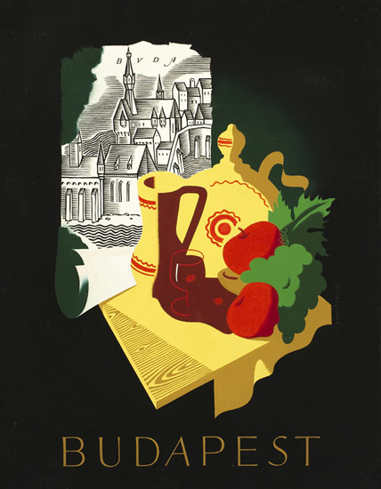 Budapest 1936 | Vintage Travel Posters 1891-1970