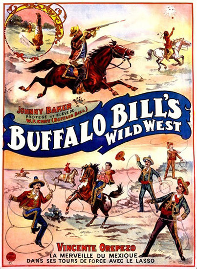 Buffalo Bills Wild West With Jonny Baker   Vintage Ad and Cover Art 1891-1970