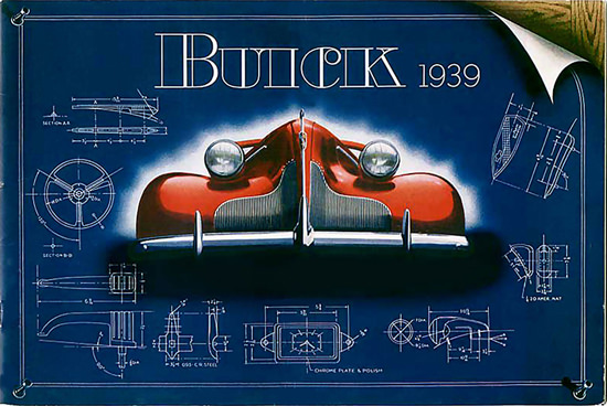Buick 1939 Automobile Drafting Borad Red Wide | Vintage Cars 1891-1970