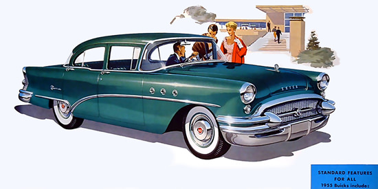 Buick 4-Door 1955 Green | Vintage Cars 1891-1970