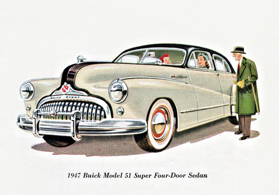 Buick 51 Super Sedan 1947 Body By Fisher | Vintage Cars 1891-1970