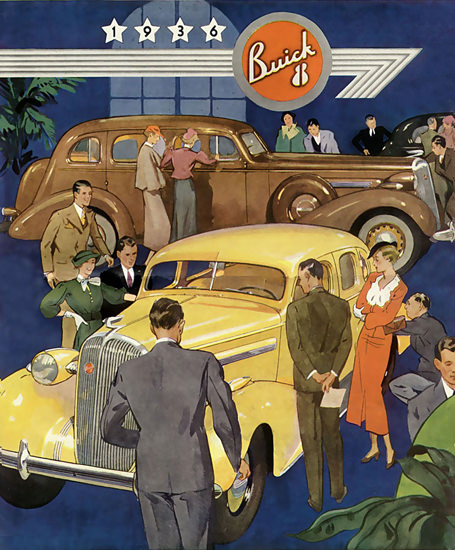 Buick 8 Yellow 1936 | Vintage Cars 1891-1970