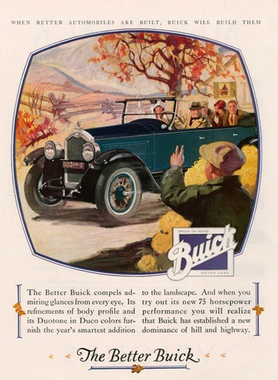 Buick Automobile Fall Hill And Highway | Vintage Cars 1891-1970