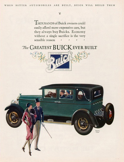 Buick Automobile Green | Vintage Cars 1891-1970