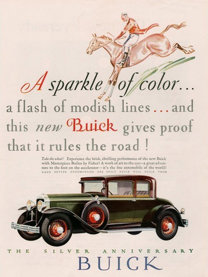 Buick Automobile Silver Anniversary Buick Horse | Vintage Cars 1891-1970