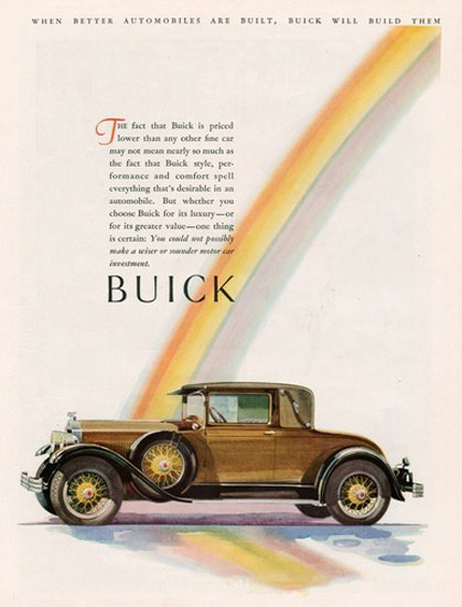 Buick Better Automobiles Rainbow | Vintage Cars 1891-1970
