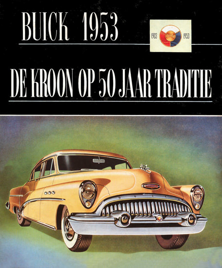 Buick Brochure Cover Dutch 1953 50 Years | Vintage Cars 1891-1970