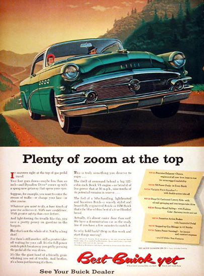Buick Century Coupe 1956 Green Plenty Zoom | Vintage Cars 1891-1970