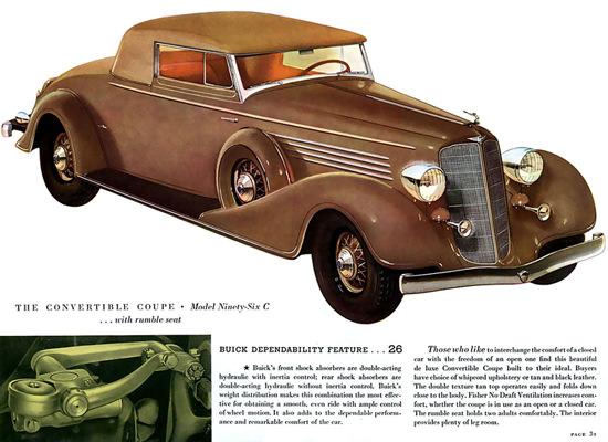 Buick Conv Coupe Model Ninety-Six C Rumble | Vintage Cars 1891-1970