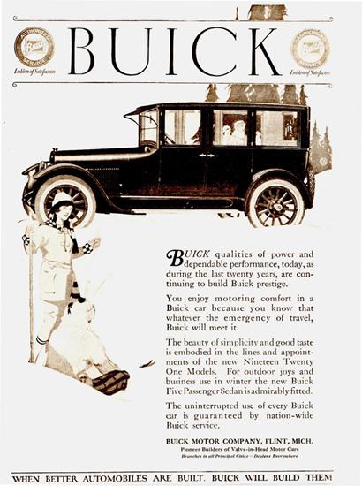 Buick Five P Sedan Flint 1921 | Vintage Cars 1891-1970