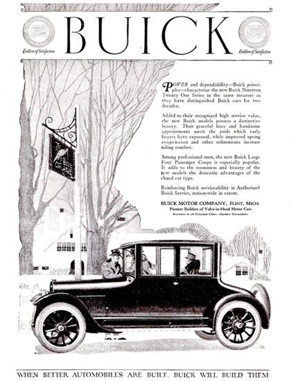 Buick Four P Coupe Flint 1921 | Vintage Cars 1891-1970