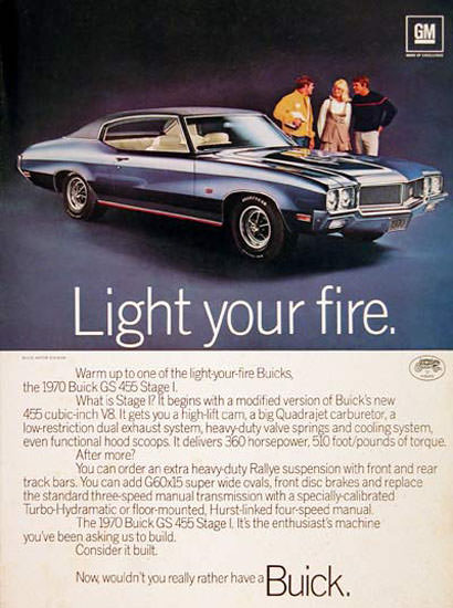 Buick GS Stage 1970 Light Your Fire | Vintage Cars 1891-1970