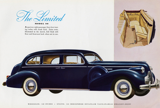 Buick Limited 141 HP Model 90 Touring 1939 | Vintage Cars 1891-1970