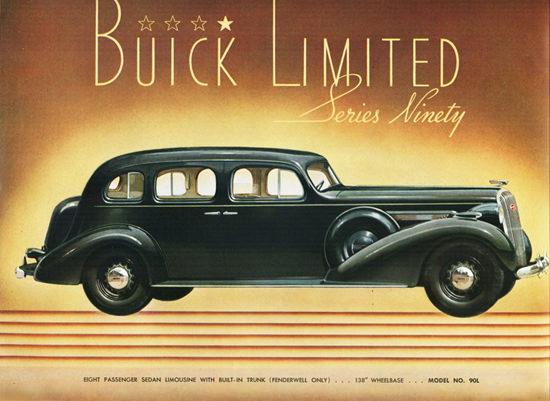 Buick Limited Series Ninety Sedan Limousine 1936 | Vintage Cars 1891-1970