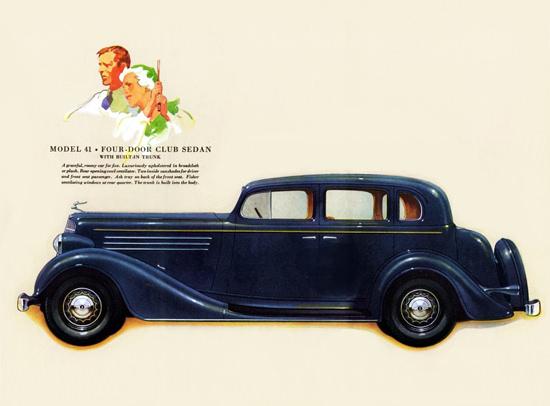 Buick Model 41 Club Sedan 1934 Built In Trunk | Vintage Cars 1891-1970