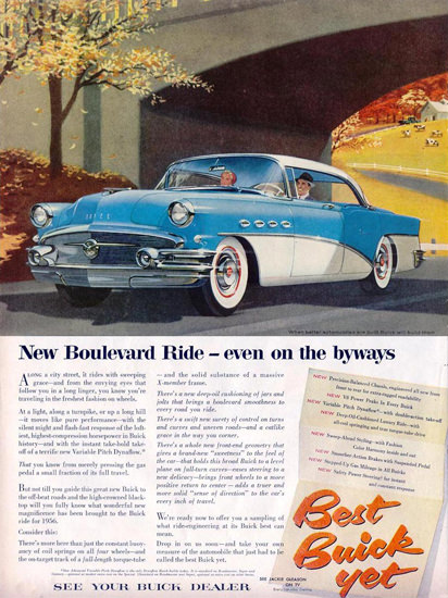 Buick New Boulevard Ride 1956 | Vintage Cars 1891-1970