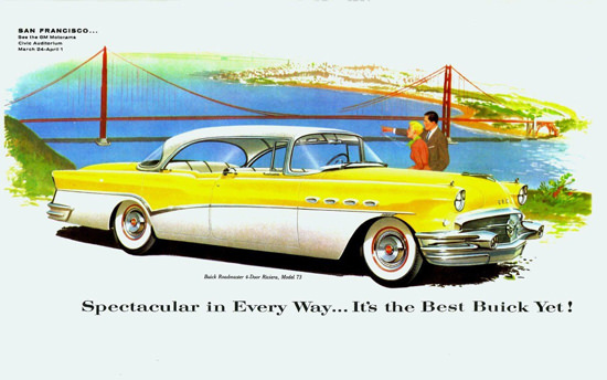 Buick Roadmaster Riviera 1956 Golden Gate | Vintage Cars 1891-1970