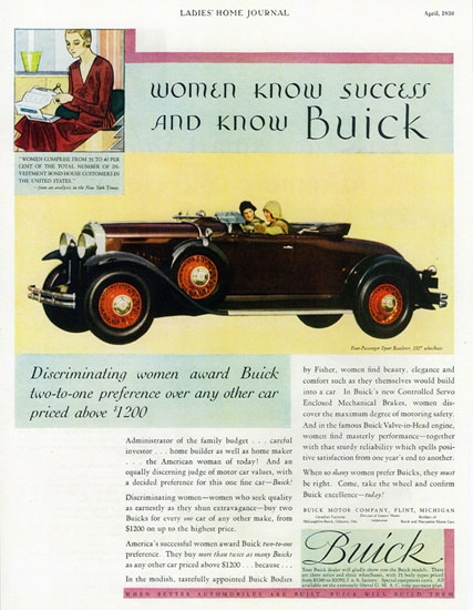 Buick Roadster 1930 Discriminating Women Award | Vintage Cars 1891-1970