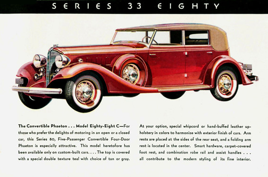 Buick Series 33 Eighty Convertible Phaeton 1933 | Vintage Cars 1891-1970