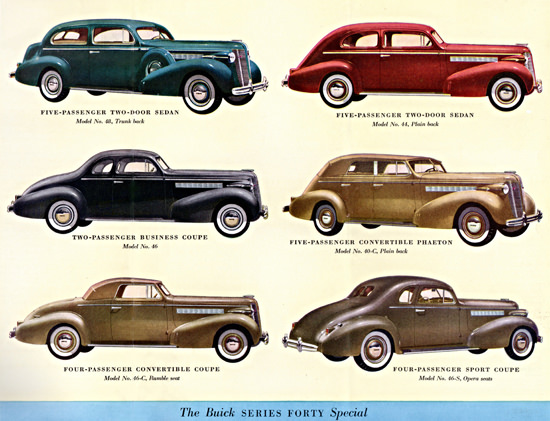 Buick Series Forty Special 1937 | Vintage Cars 1891-1970