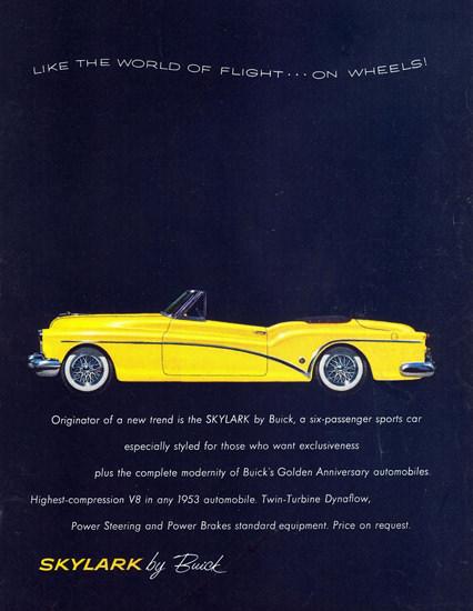 Buick Skylark 1953 | Vintage Cars 1891-1970