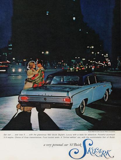 Buick Skylark V8 Sport Coupe 1963 At Night | Vintage Cars 1891-1970