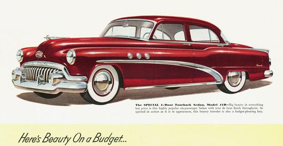 Buick Special 4 Door Tourback Sedan 1952 | Vintage Cars 1891-1970
