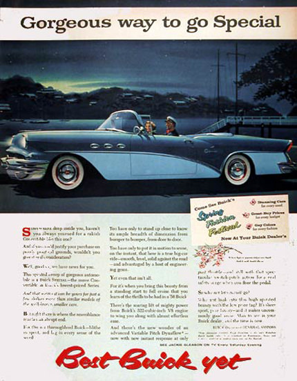 Buick Special Conv 1956 Blue Gorgeous Way | Vintage Cars 1891-1970