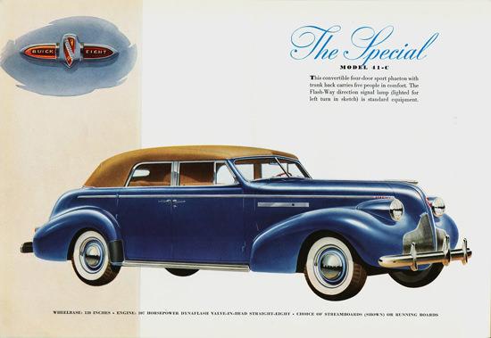 Buick Special Model 41-C Sport Phaeton 1939 | Vintage Cars 1891-1970
