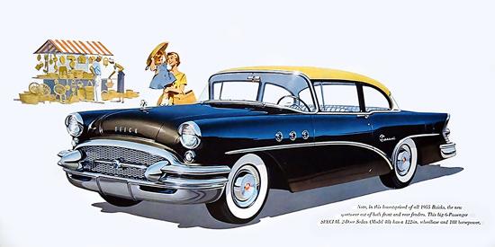 Buick Special Sedan 1955 6-Passenger Blue | Vintage Cars 1891-1970