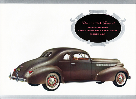 Buick Special Series 40 Sport Coupe 46S 1938 | Vintage Cars 1891-1970