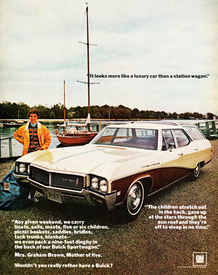 Buick Sport 1968 Six Children Station Wagon | Vintage Cars 1891-1970