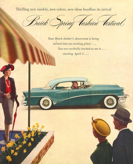 Buick Spring Fashion Festival 1955 | Vintage Cars 1891-1970