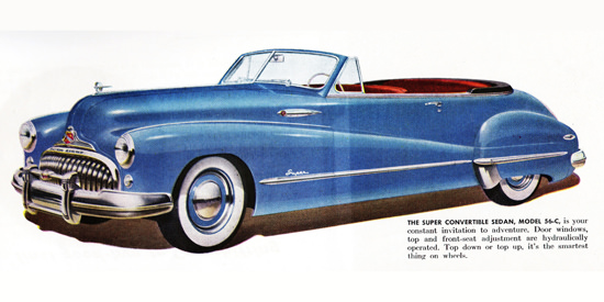 Buick Super Convertible Model 56 C 1948 | Vintage Cars 1891-1970