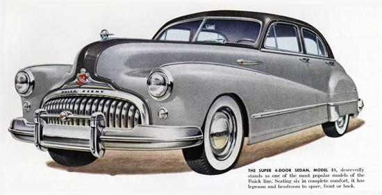 Buick Super Sedan Model 51 1948 | Vintage Cars 1891-1970