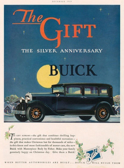 Buick The Gift Silver Anniversary Night Sky Moon | Vintage Cars 1891-1970