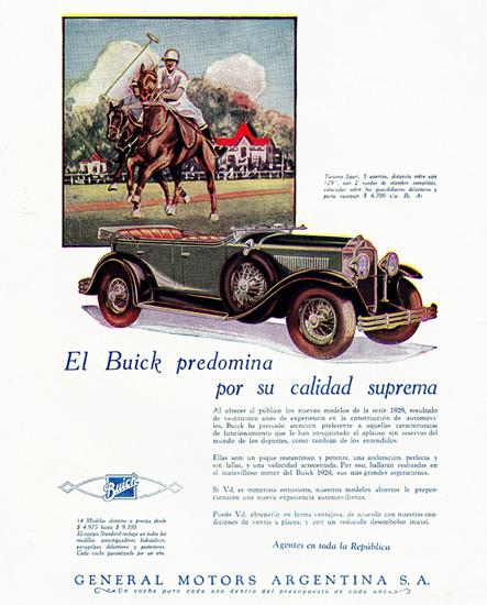 Buick Turismo Sport 5 P 1929 Calidad Suprema | Vintage Cars 1891-1970