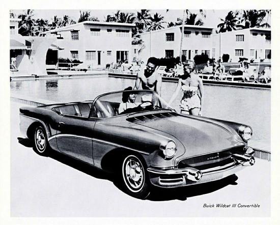 Buick Wildcat III Convertible 1955 At The Pool   Vintage Cars 1891-1970